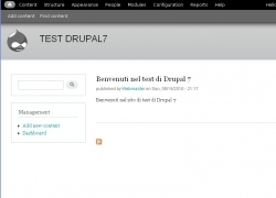 Sito test Drupal 7