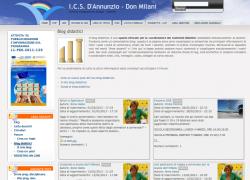 Snapshot del sito ICS D'Annunzio-Don Milani
