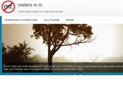 schermata iniziale del sito