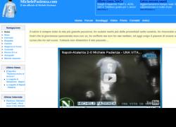 Snapshot del sito MichelePazienza.com